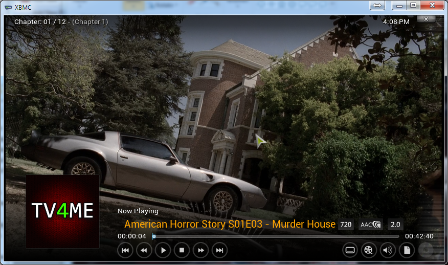 And this is how it looks with 720p media. Nice, right?