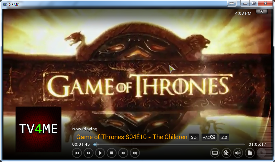 This is how it looks like streaming the content. This one is a bit low resolution.